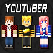 3D Youtuber Skins Collection - Pixel Texture Exporter for Minecraft Pocket Edition Lite logo