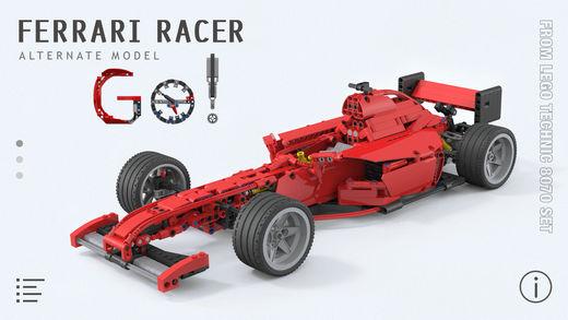 Ferrari Racer for LEGO Technic 8070 Set - Building Instructions
