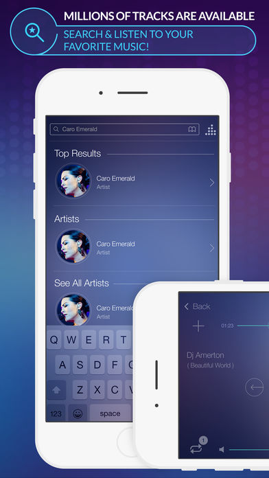 Spoty EQLZR - stream music player with equalizer and lyric search